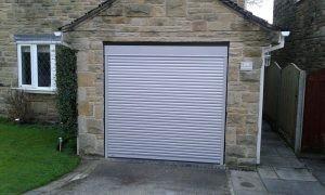 SWS Roller Garage Door in Metallic Silver By ABi