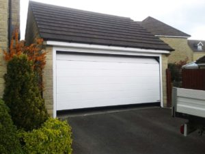 Hormann M Ribbed Sectional Garage Door in White By ABi
