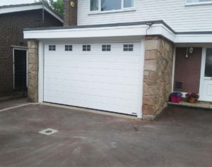 Hormann M Ribbed Sectional Garage Door with Glazing By ABi