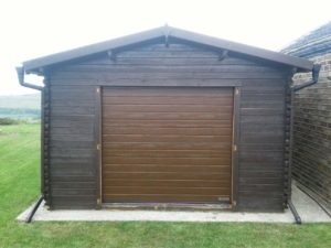 Hormann S Ribbed Sectional Garage Door in Brown By ABi