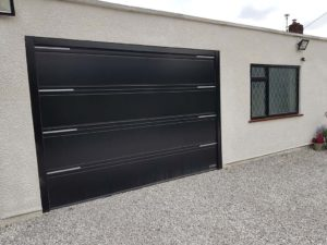 Hormann T Ribbed Sectional Garage Door Black By ABi