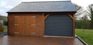 Hörmann Roller Garage Door in Black