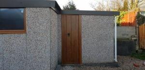Garage Side Door in Brown