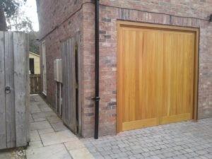 Automatic Up & Over Garage Door in Brown