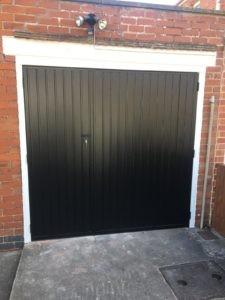 Side Hinged Garage Door in Black