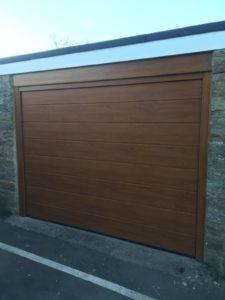 Sectional Garage Door in Brown