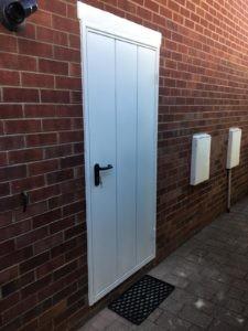 Side Hinged Garage Door in White