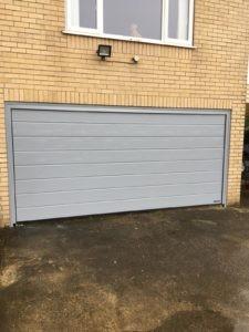 Hörmann Sectional Garage Door in Grey