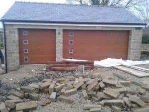 Hörmann Sectional Garage Doors in Brown