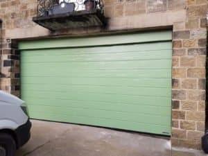 Hörmann Sectional Garage Door in Green