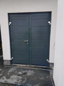 Side Hinged Garage Door in Grey