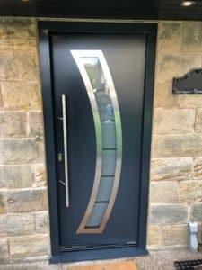 Hörmann Steel Front Door in Black