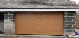 Hörmann Sectional Garage Door in Brown