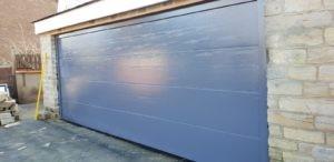 Sectional Garage Door in Blue