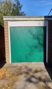 Up & Over Garage Door in Green