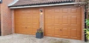 Up & Over Garage Doors in Brown