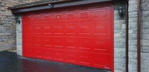 Hörmann Sectional Garage Door in Red
