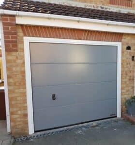 Hörmann Sectional Garage Door in Blue