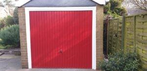 Up & Over Garage Door in Red