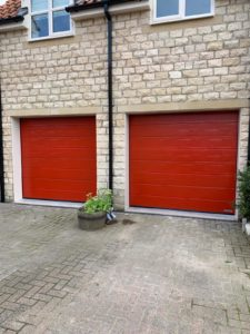 Hörmann Sectional Garage Doors in Red