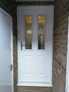Composite Entrance Door in White