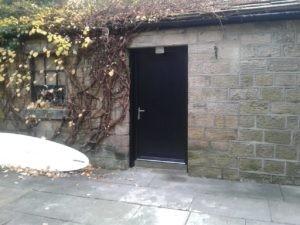 Composite Garage Side Door in Black