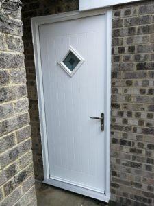 White Garage Side Door