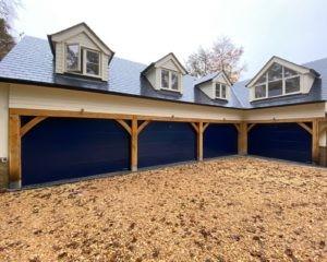 Hörmann Sectional Garage Doors in Blue