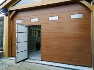 Sectional Garage Door With a Wicket Door
