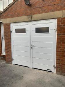 Hörmann Side-Hinged Garage Door in White
