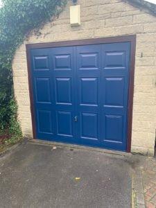 Up & Over Garage Door in Blue