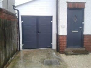 Hörmann Side-Hinged Garage Door With A Composite Entrance Door
