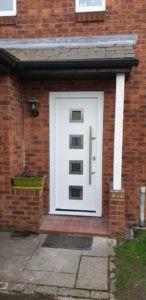 Steel Entrance Door In White