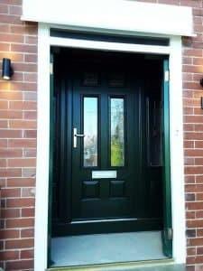 Endurance Composite Front Door in Black