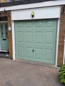 Marquess Up and Over Garage Door in Chartwell Green
