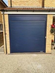 Roller Garage Door in Steel Blue