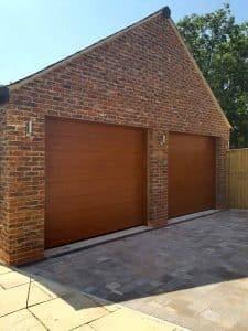 Sectional Garage Doors in Decograin