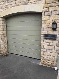 Sectional Garage Door in Stone Grey