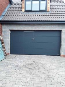 Sectional Wicket Garage Door L Ribbed Anthracite Grey