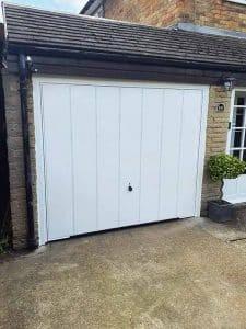 Up and Over Elegance Design Garage Door in White