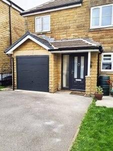 Composite Entrance Door With Matching Garage Door