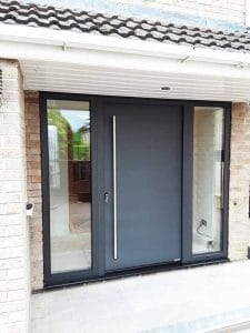 Hormann Entrance Door Anthracite Grey RAL 7016 with Side Elements
