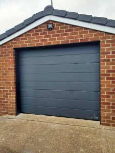 Hormann M Ribbed Sectional Garage Door Anthracite Grey Silkgrain